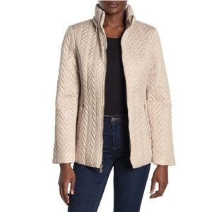 Kate Spade Hooded Quilted Moto Jacket